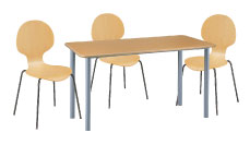 3 x AUBIN bois / 1 x GLENAN bois : ensemble de mobiliers en location