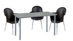 3 x BREST noir / 1 x GLENAN gris : ensemble de mobiliers en location