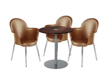 Ensemble de mobiliers en location : 3 x BREST marron / 1 x BELLE ILE wengé