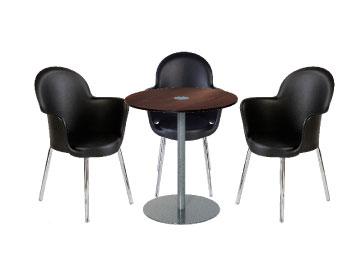 Ensemble de mobiliers en location : 3 x BREST noir / 1 x BELLE ILE wengé
