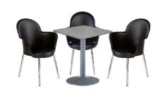 3 x BREST noir / 1 x BATZ gris : ensemble de mobiliers en location