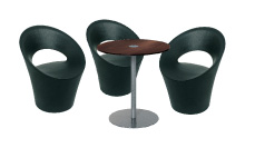 3 x PONT AVEN noir / 1 x BELLE ILE wengé : ensemble de mobiliers en location