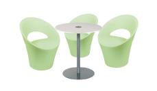 3 x PONT AVEN vert d'eau / 1 x BELLE ILE blanc : ensemble de mobiliers en location
