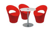 3 x PONT AVEN rouge / 1 x BELLE ILE blanc : ensemble de mobiliers en location