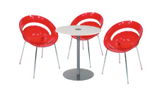 3 x SLIM rouge / 1 x BELLE ILE blanc : ensemble de mobiliers en location