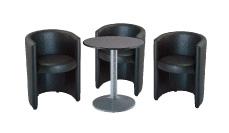3 x PAIMPOL / 1 x CHAUSEY gris : ensemble de mobiliers en location