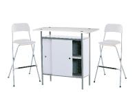 1 x NAZAIRE blanc / 2 x SIZUN blanc : ensemble de mobiliers en location
