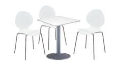 3 x AUBIN blanc / 1 x BATZ blanc : ensemble de mobiliers en location