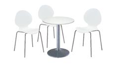 3 x AUBIN blanc / 1 x CHAUSEY blanc : ensemble de mobiliers en location