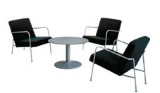 3 x CLISSON noir / 1 x NOIRMOUTIER gris : ensemble de mobiliers en location