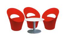 3 x PONT AVEN rouge / 1 x NOIRMOUTIER blanc : ensemble de mobiliers en location