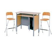 1 x HERBLAIN bois / 2 x SIZUN bois : ensemble de mobiliers en location