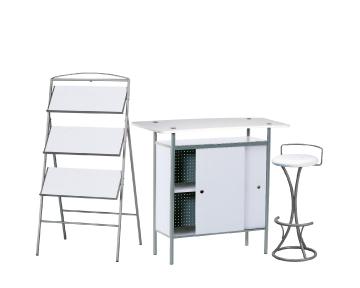 Ensemble de mobiliers en location : 1 x NAZAIRE blanc / 1 x PENHIR blanc / 1 x ANJOU blanc