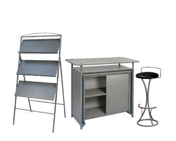 Ensemble de mobiliers en location : 1 x PHILIBERT gris / 1 x PENHIR noir / 1 x ANJOU gris