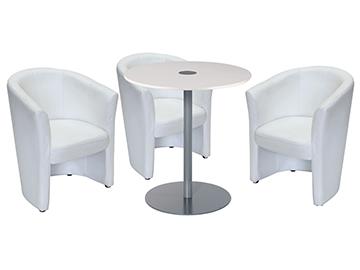 Ensemble de mobiliers en location : 3 x CORNOUAILLE / 1 x BELLE ILE blanc