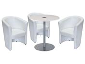 3 x CORNOUAILLE / 1 x BELLE ILE blanc : ensemble de mobiliers en location