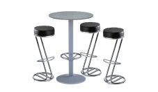 3 x FREHEL noir / 1 x JERSEY gris : ensemble de mobiliers en location