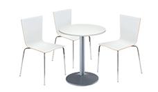 3 x PERROS blanc / 1 x CHAUSEY blanc : ensemble de mobiliers en location