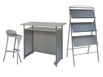 Ensemble de mobiliers en location : 1 x KERDONIS gris / 1 x ANJOU gris / 1 x POL gris