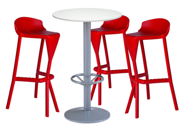 location tabourets bar et mange debout ensemble 3 x kerdonis rouge 1 x jersey blanc. Black Bedroom Furniture Sets. Home Design Ideas