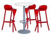 3 x KERDONIS rouge / 1 x JERSEY blanc : ensemble de mobiliers en location