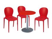 3 x LIBOURNE rouge / 1 x CHAUSEY rouge : ensemble de mobiliers en location