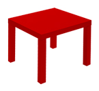 MADAME : table basse en location