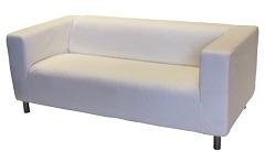 Location de mobilier : location canapé MOULLEAU tissu blanc