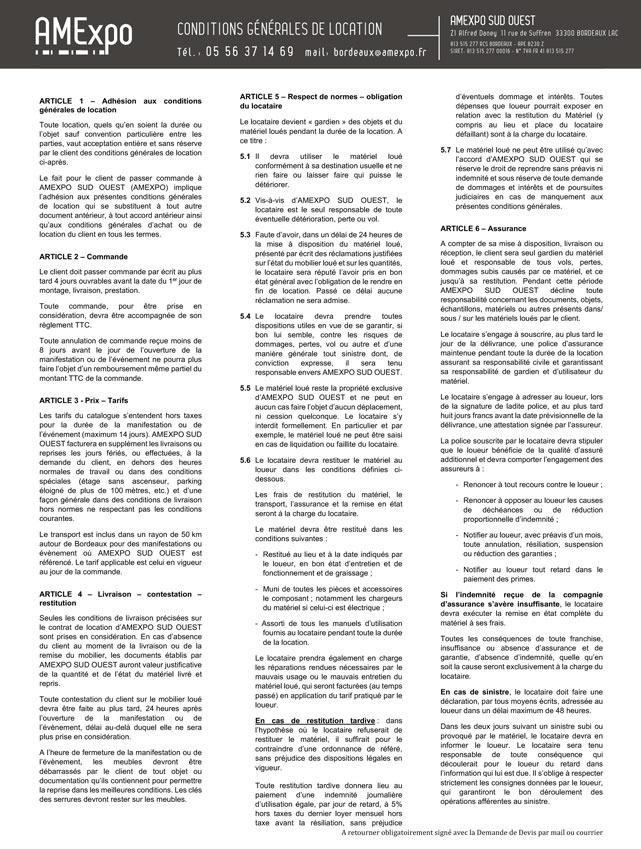 Voir les Conditions Générales de Location en PDF